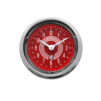 "Classic Instruments (V8RS90SHC) V8 Red Steelie 2 1/8"" Clock"
