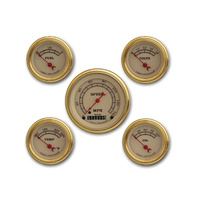 Classic Instruments (VT00GLF) Vintage Series Five Gauge Set with Gold Bezels