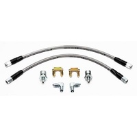 "WILWOOD WB220-7699 UNIVERSAL 16"" FLEXLINE S/STEEL BRAIDED BRAKE HOSE KIT"