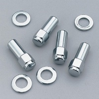"WELD CLOSED END WHEEL NUTS 12mm x 1.5"" CHROME 4 PACK WE601-1412"