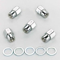 "WELD CLOSED END WHEEL NUTS WE601-1464 CHROME 7/16""-20 RH 5 PACK"