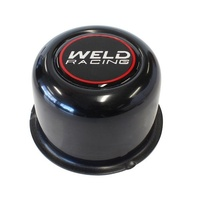 "WELD RACING BLACK CENTRE CAP WEP605-5073B PUSH THROUGH 3.160"" Dia. 2"" TALL"