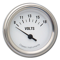 "Classic Instruments (WH30SLF) White Hot 2 1/8"" Volts"