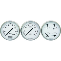 "Classic Instruments (WH53SLF) White Hot 4 5/8"" Speedo & Tach & Quad"