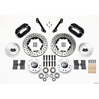 WILWOOD DYNALITE PRO FRONT BRAKE KIT DRILLED SLOTTED 4 SPOT GM WB 140-11007-D