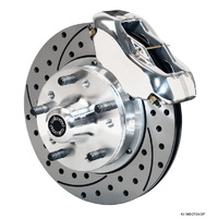 WILWOOD DYNALITE PRO FRONT BRAKE KIT DRILLED SLOTTED 4 SPOT CHEV WB 140-3425-DP