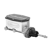 "Wilwood WIL260-14958-P Compact Tandem Master Cylinder 15/16"" Bore w/ Pushrod Polished"