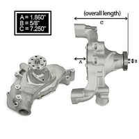 CHEV B/B LONG ALUM ACTION PLUS WATER PUMP WEIAND WM9242