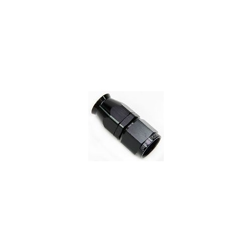 Aeroflow AF201-06DBLK Alloy Straight Hose End -6AN Black Swivel Nut Suit Teflon
