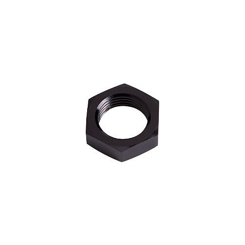 Aeroflow AF924-06BLK Bulkhead Nut -6AN Black Single Nut