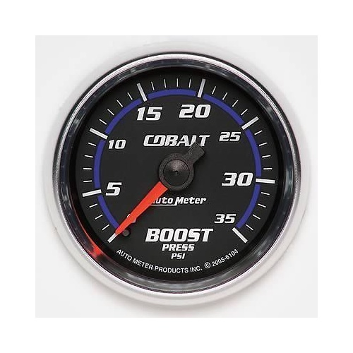 "AUTOMETER COBALT 2-1/16"" MECHANICAL BOOST GAUGE 0-35 PSI AU6104"